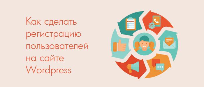 Как сделать регистрацию пользователей на сайте Wordpress