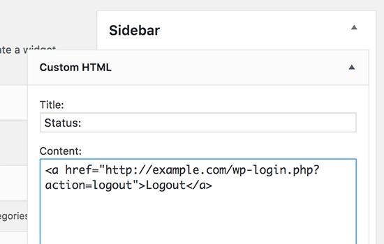 Виджет с произвольной областью для вставки html
