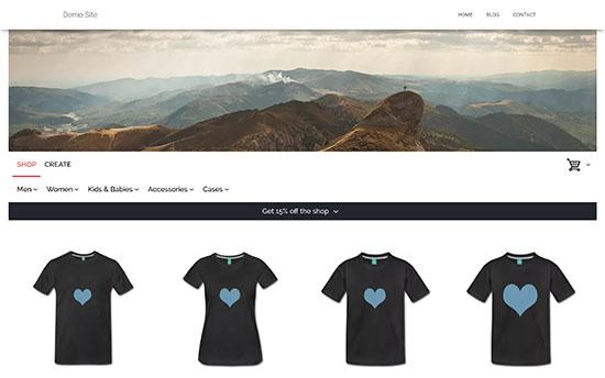 Отображение интернет магазина футболок на WordPress сайте