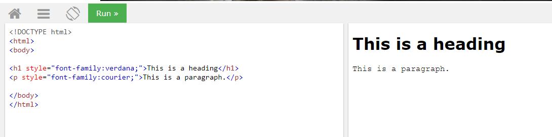 Свойство font-family: определяем семейство шрифтов для тега заголовка и параграфа