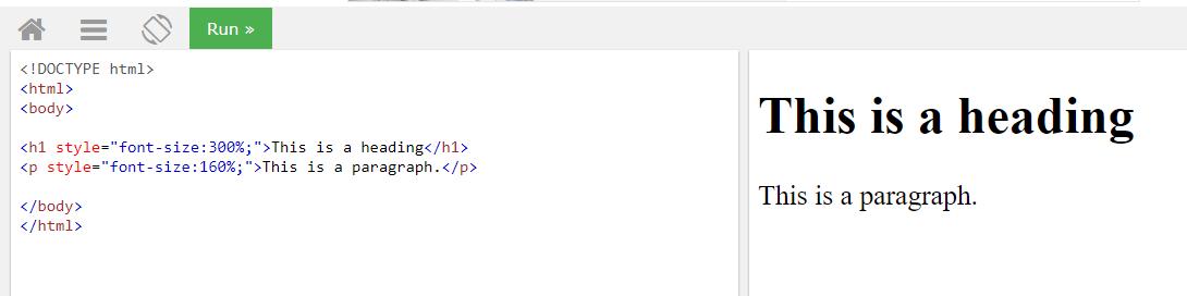 Задаем размер текста через свойство font-size