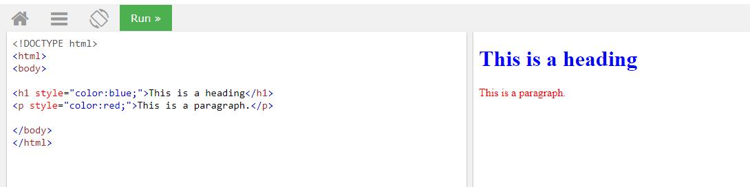 HTML цвет текста через свойство color для заголовка и параграфа
