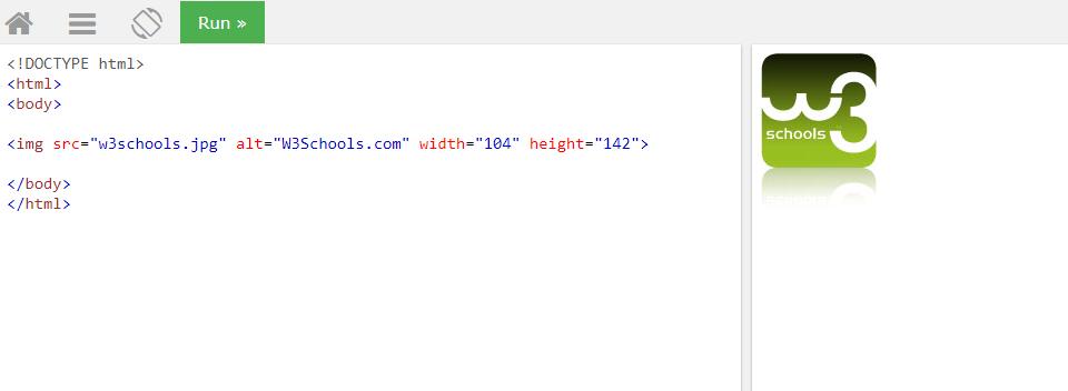 Пример HTML тега изображения