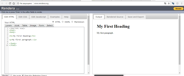 Rendera- удобный и функциональный HTML бесплатный визуальный редактор кода