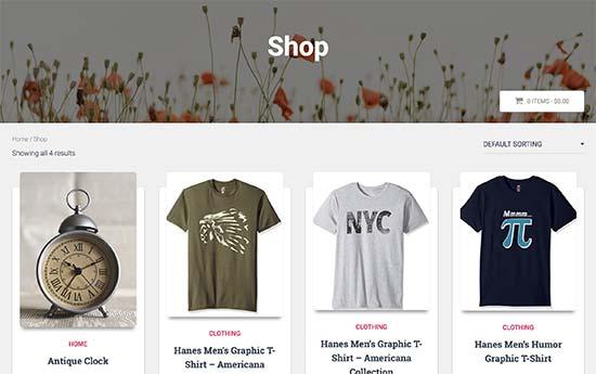 Страница партнерского интернет магазина в браузере