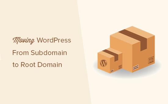 Перенос сайта с поддомена в корневой домен в WordPress