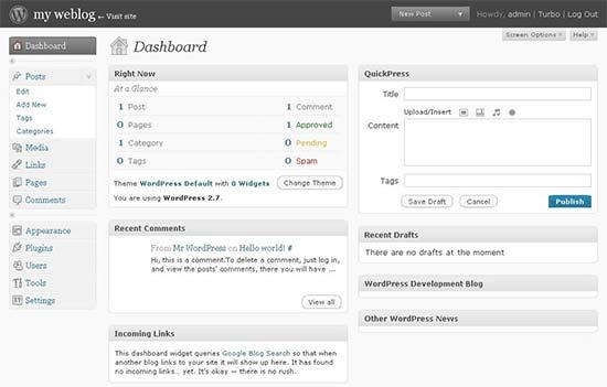 WordPress 2.7 – Coltrane