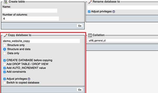Копирование всей базы данных