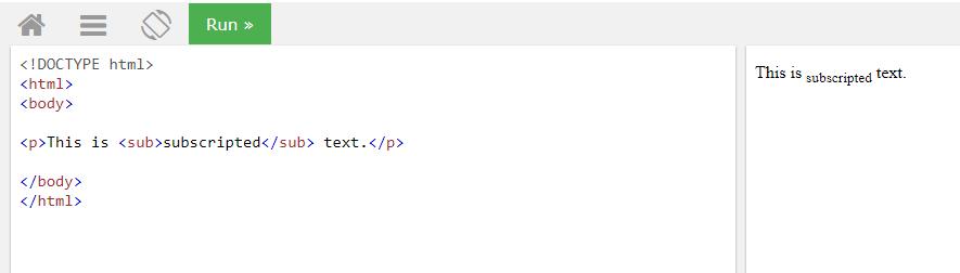 HTML sub