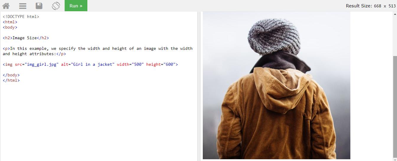 Атрибуты width и height у изображения в Html