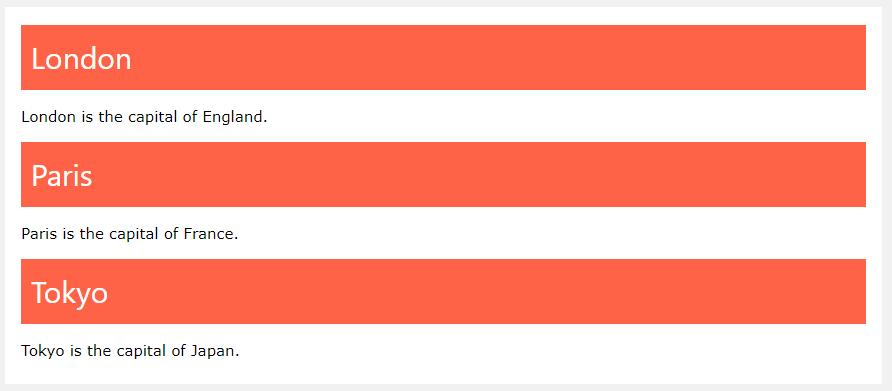 Пример использования классов в HTML