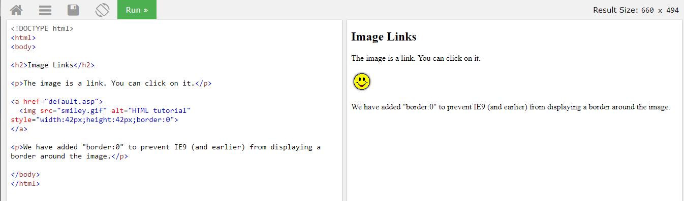 HTML ссылка в изображении картинке