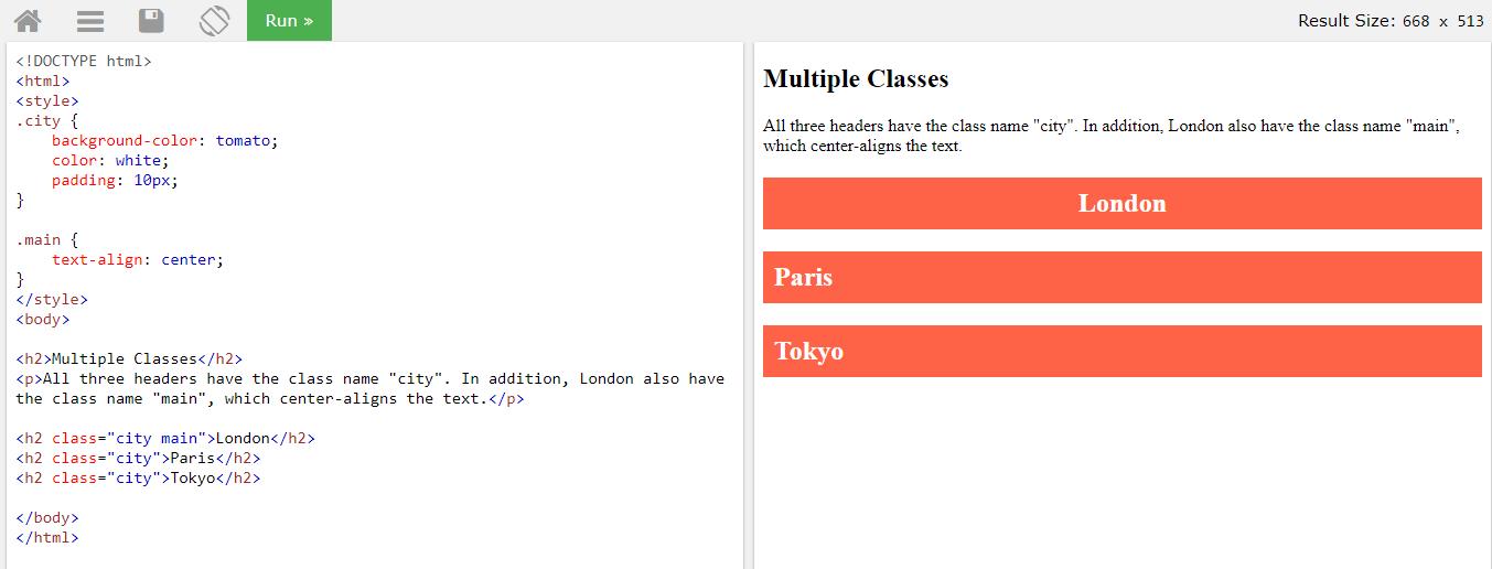Применение множественных классов к HTML элементам