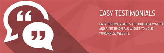 Easy Testimonials - отличное решение для плагина отзывов