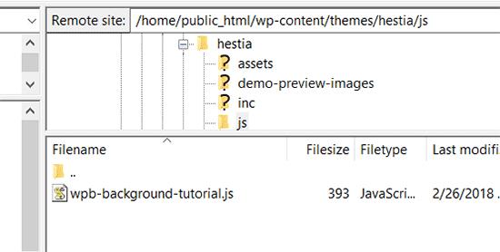 Загрузка файла в папку с темой в директорию JS